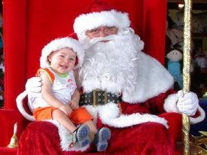"""""""esse é o MEU Papai Noel, tá?"""" (não sou eu na foto, galere)"""
